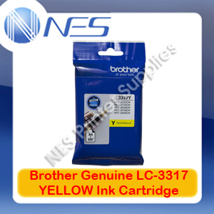 Brother Genuine LC-3317Y YELLOW Ink Cartridge for MFC-J5330DW/MFC-J5730DW/MFC-J6530DW/MFC-J6730DW/MFC-J6930DW (550 Pages)